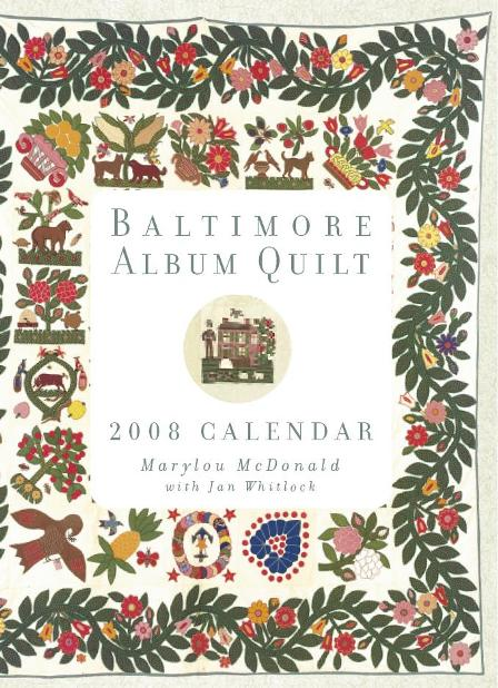 Baltimore Album Quilt Engagement Calendar Information